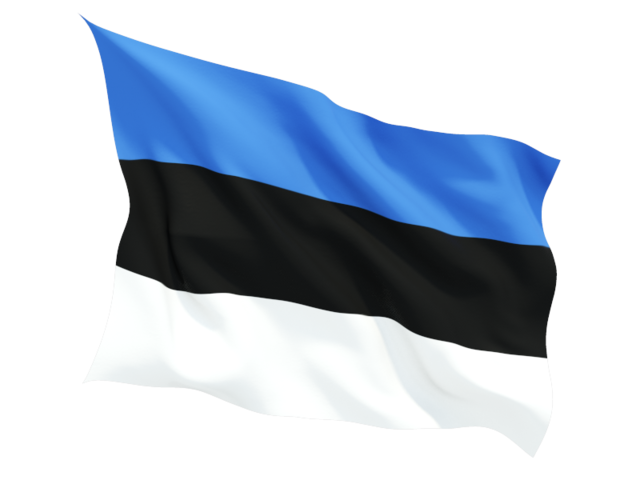 estonia fluttering flag 640
