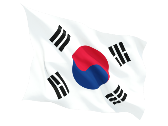 korea south fluttering flag 640
