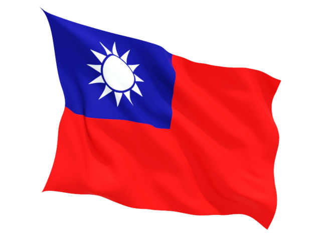 republic of china fluttering flag 640