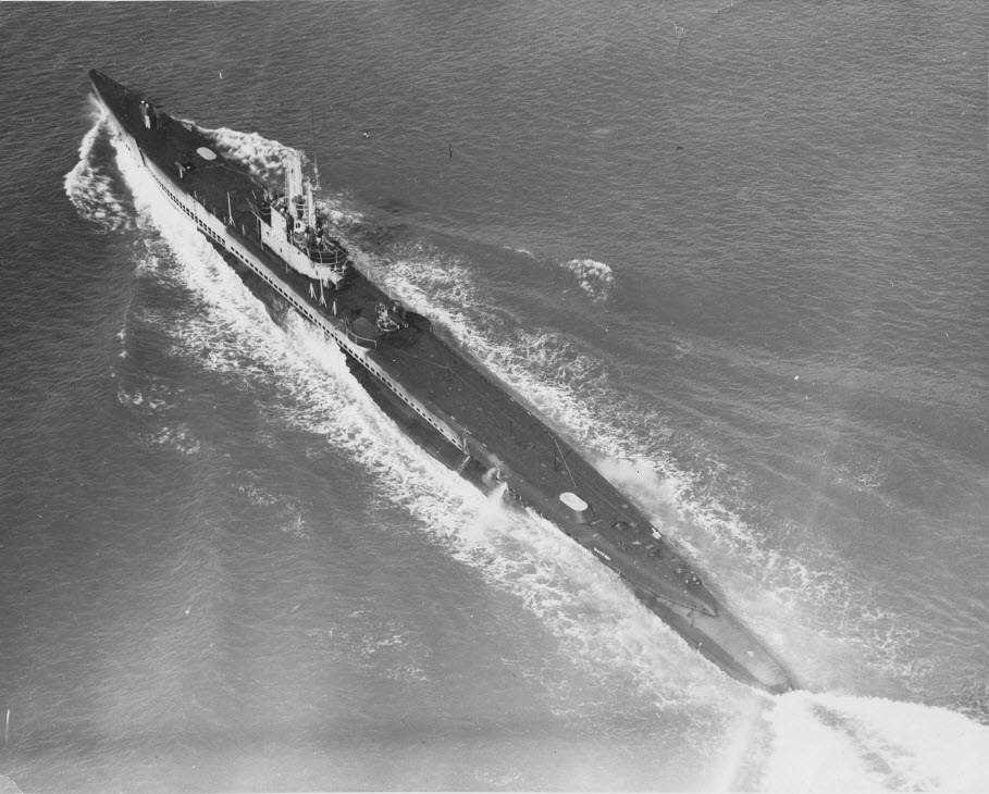 USS Batfish sinks transport