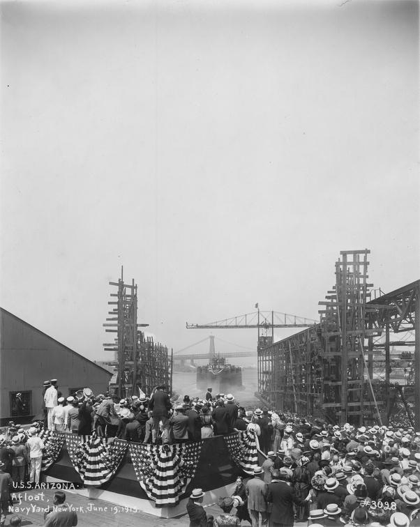 USS Arizona BB-39 launched