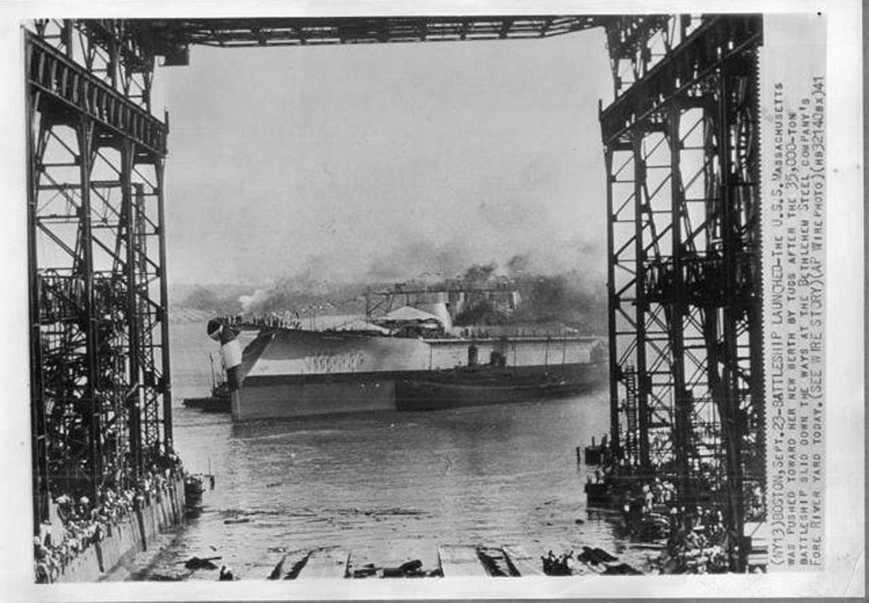 USS Massachusetts - BB-59 launched